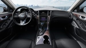2018 INFINITI Q50 Red Sport Sedan Connectivity and INFINITI InTouch